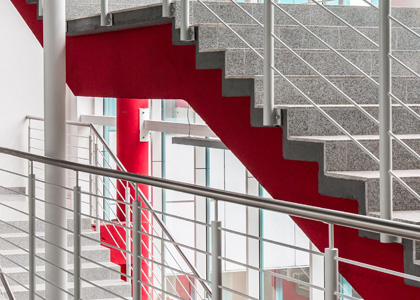 Projects in Medical, Education & More: Industries Served | Selleck Architectural - stairs